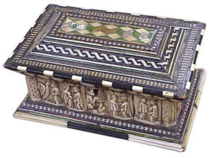 Biblebox wood ivory