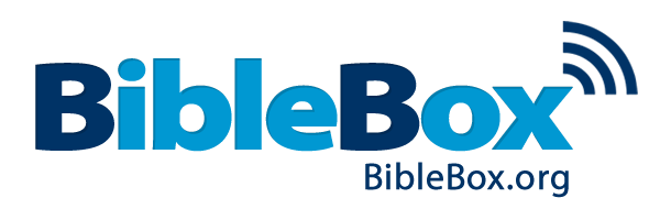 BibleBox device sticker logo