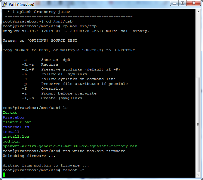 Screenshot - copy-run new firmware